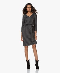 Kyra & Ko Primula Jersey Pinstripe Dress - Iron