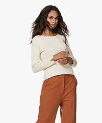 Kyra & Ko Anemoon Knitted Boat Neck Pullover - Almond