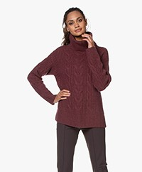 Repeat Luxury Cashmere Turtleneck Sweater - Burgundy