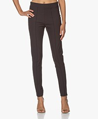 Josephine & Co Jerome Slim-fit Travel Jersey Pantalon - Bruin