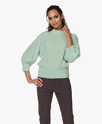 Josephine & Co Joep Balloon Sleeve Sweater - Dark Mint
