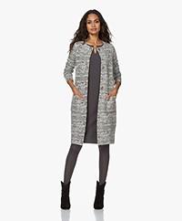 Kyra & Ko Maja Cloqué Jersey Jacquard Blazer Jacket - Iron