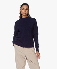 Josephine & Co Jordi Alpaca Blend Knitted Sweater - Navy
