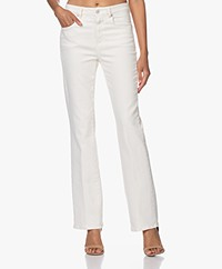 Closed Leaf Sustainable Flared Stretch Jeans - Cream