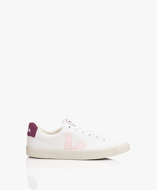 VEJA Esplar Canvas Sneakers - Wit/Petale/Berry