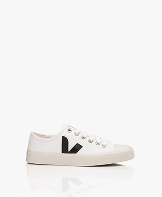 VEJA Wata Canvas Sneakers - White/Black