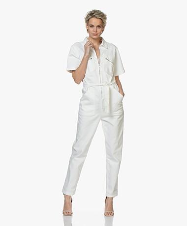 ba&sh Warren Katoenen Twill Jumpsuit - Off-white