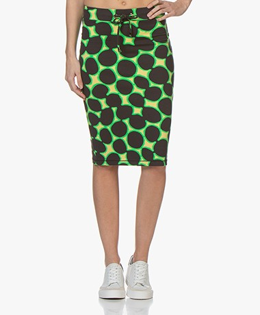 Kyra & Ko Tia French Terry Print Skirt - Desert