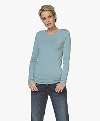 Majestic Filatures Ally Round Neck Long Sleeve - Summer Blue