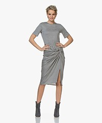 By Malene Birger Chalett Draped Jersey Dress - Medium Grey