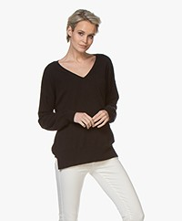 Closed V-neck Cashmere Sweater - Black