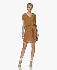 Marie Sixtine Bertilla Viscose Crepe Tunic Dress - Bronze