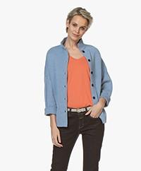Sibin/Linnebjerg Spring Fine Knitted Cardigan - Light Denim Blue