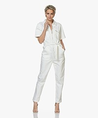 ba&sh Warren Katoenen Twill Jumpsuit - Off-white