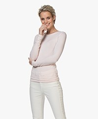 Majestic Filatures Ally Round Neck Long Sleeve - Pétale