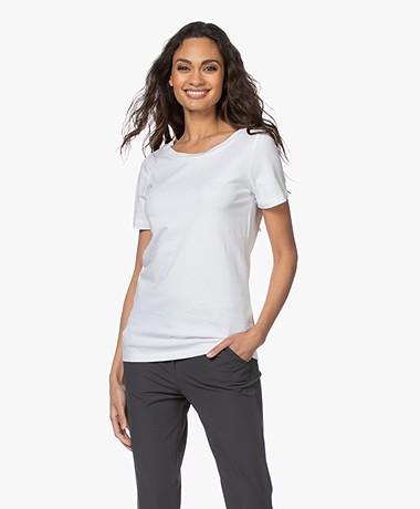 Plein Publique La Chance Modalmix T-shirt - Wit