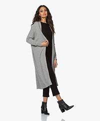 Sibin/Linnebjerg Sister Long Open Cardigan - Grey Melange
