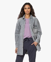 IRO Ygga Oversized Denim Overhemd - Steel Grey