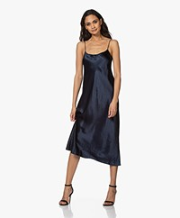 Vince Crush Satijnen Slip Dress - Coast Blue
