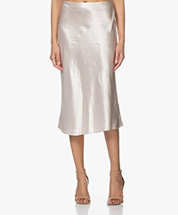 Vince Crush Satin Midi Skirt - Champagne