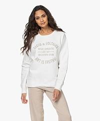 Zadig & Voltaire Upper Blason Logo Sweatshirt - Lait
