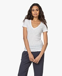 James Perse Slub Jersey V-hals T-shirt - Wit