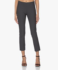 Vince Stitch Front Seam Slim-fit Stretch Pants - Dark Grey
