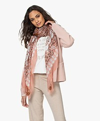 Zadig & Voltaire Kerry Garden Modal Printed Scarf - Rose