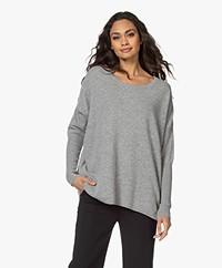 Sibin/Linnebjerg Neva Merino Blend Sweater - Grey Melange