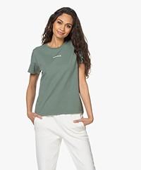 Denham Camellia Graphic T-shirt -  Laurel Wreath Green
