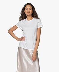 Vince Essential Crew Pima Katoenen T-shirt - Optic White