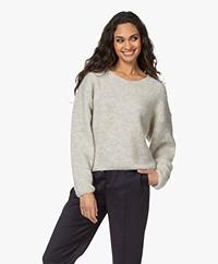 American Vintage East Alpaca Blend Ribbed Sweater - Powder Snow Melange