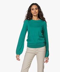 Plein Publique La Coeur Merino Wool Sweater - Jade Green