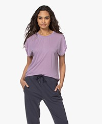 IRO Paulina Lyocell Mix T-shirt - Vintage Purple