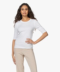 Closed Modal Blend Rib T-shirt - White