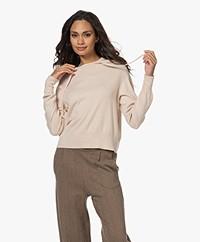 Josephine & Co Tori Cotton Hooded Sweater - Sand