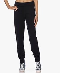 extreme cashmere N°151 Legs Cashmeremix Gebreide Broek - Navy