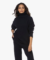 extreme cashmere N°20 Oversized Cashmere Coltrui - Navy