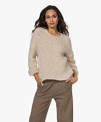 By Malene Birger Vibeca Kid Mohair Sweater - Oyster Gray