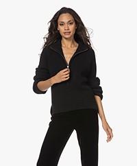 Woman by Earn Jolie  Sweater with Zipper - Black