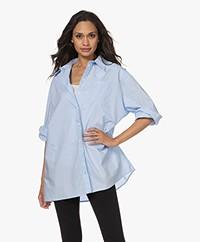 Josephine & Co Timme Oversized Cotton Shirt - Light Blue