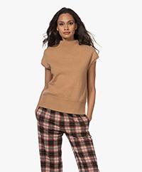 Josephine & Co Toon Merino Short Sleeve Sweater - Camel