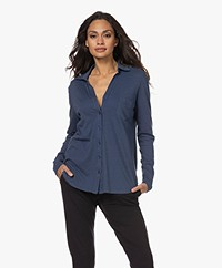 Majestic Filatures Cotton Deluxe Jersey Blouse - Prusse