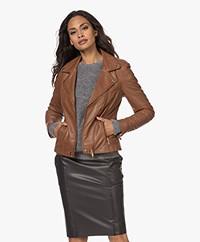 Repeat Leather Biker Jacket - Hazel
