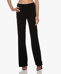 Woman by Earn Esmée Stretch Velvet Flared Pants - Black