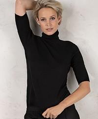 Filippa K Merino Elbow Sleeve Trui - Zwart