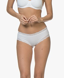 HANRO Cotton Lace Hipster - White