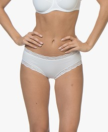 HANRO Cotton Lace Hipster - Wit