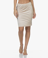 HANRO Satin Deluxe Slip Skirt - Natural