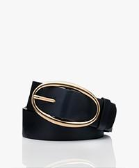 Vanessa Bruno Leather Belt - Donkerblauw